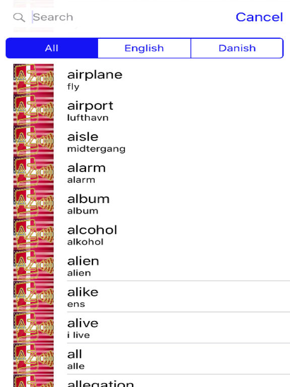 Danish Dictionary GoldEdition screenshot 8