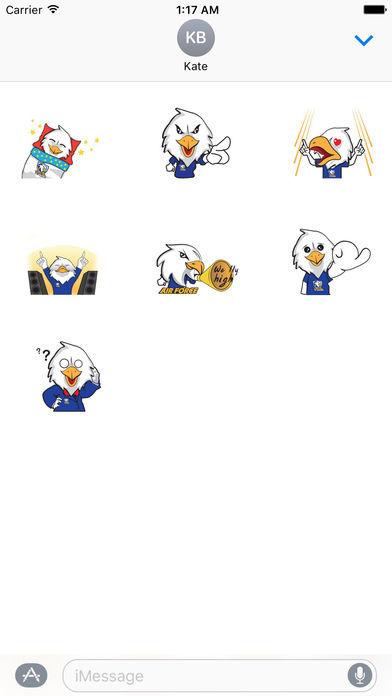 Air Force Bald Eagle Sticker screenshot 3