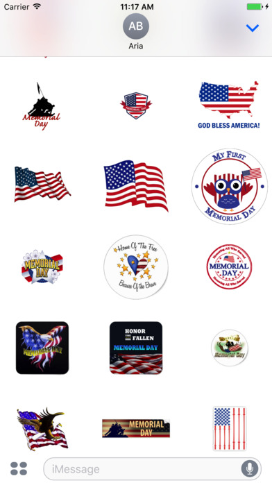 Memorial Day 2017 Sticker screenshot 2