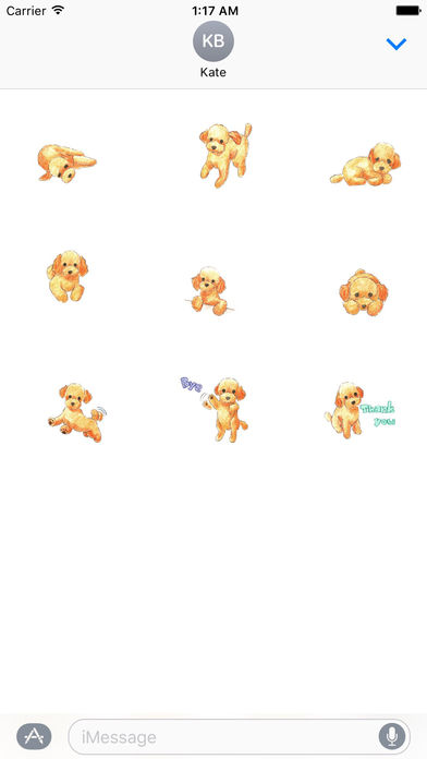 Watercolor Lovely Toy Poodle Sticker screenshot 3