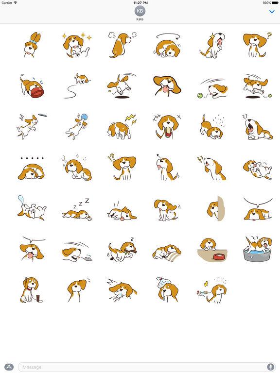 Cute and Smart Beagle Dog Sticker screenshot 4