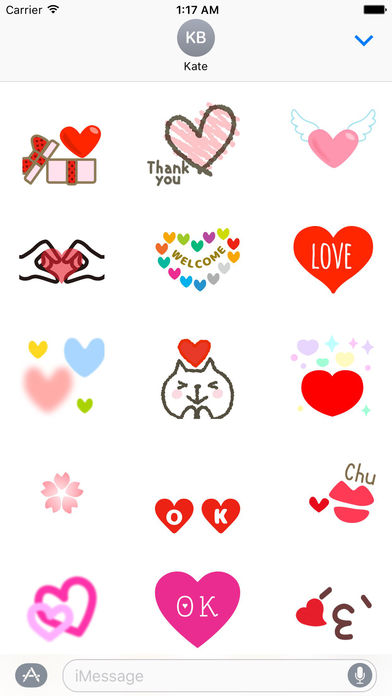 Animated Sweet Heart Heartmoji Sticker screenshot 1