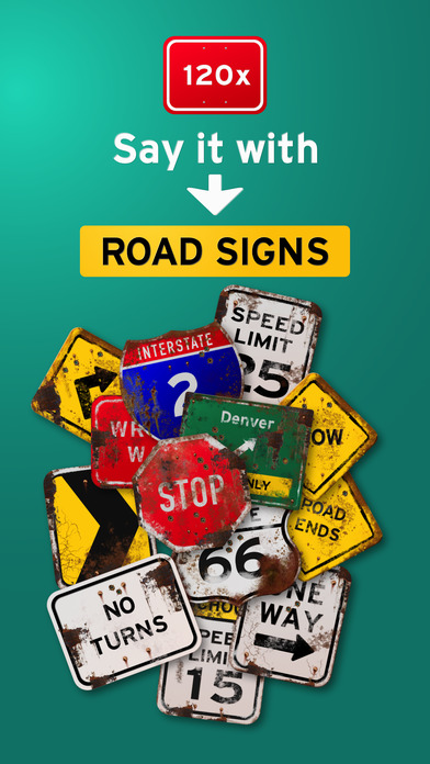 100+ Aged Road Signs Sticker Pack (Rusty) screenshot 1