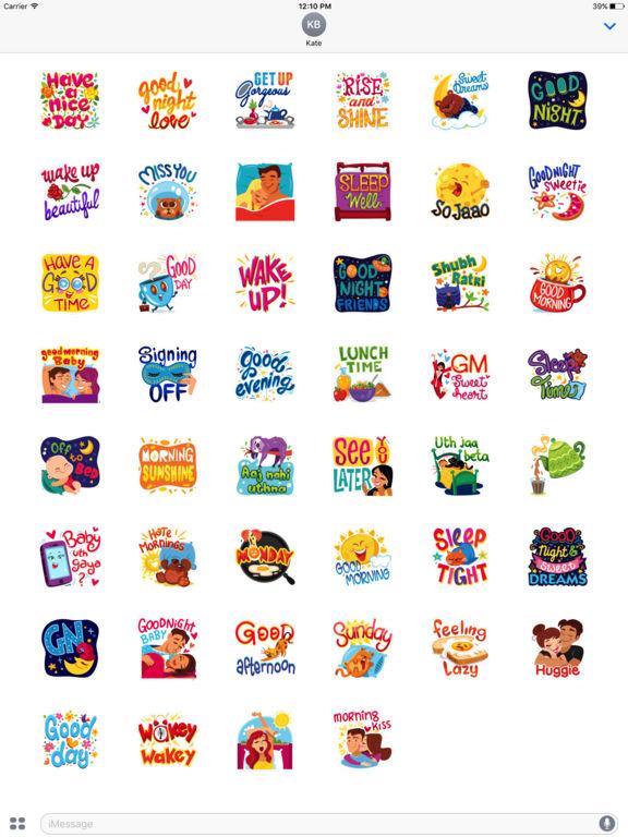 Daily Greetings Stickers screenshot 5