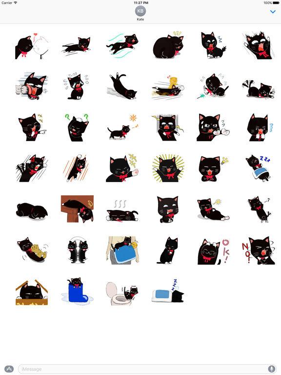 Naughty Black Cat Emoji Sticker screenshot 4