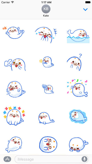 Happy Seal in Summer Animated Stickers screenshot 1