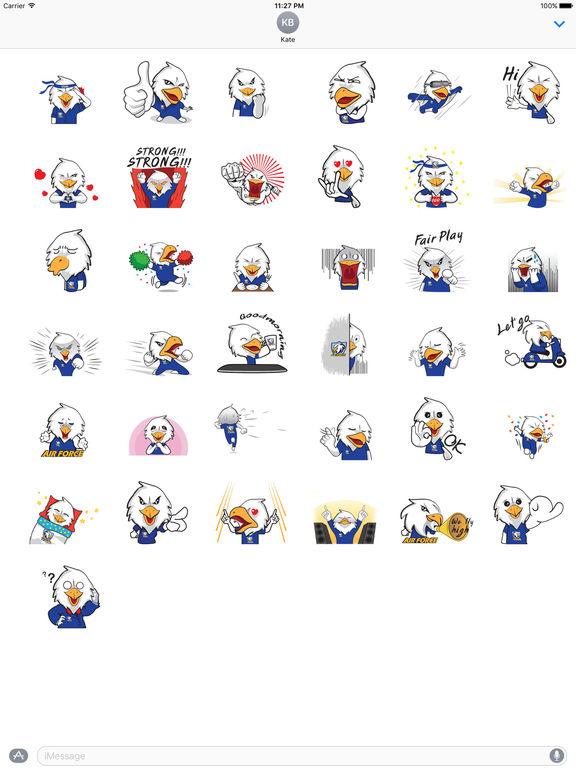 Air Force Bald Eagle Sticker screenshot 4