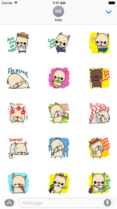Holiday Summer of Frenchie Dog Sticker screenshot 2
