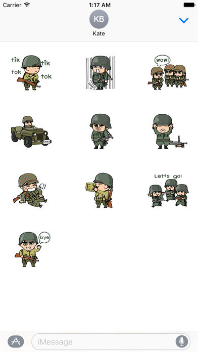 Life of Soldiers Sticker screenshot 3