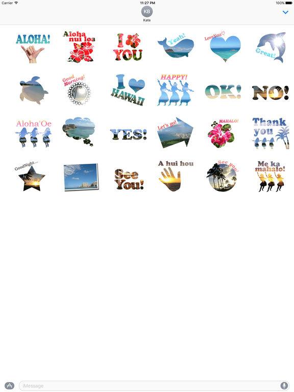 Aloha Hawaii Sticker screenshot 3