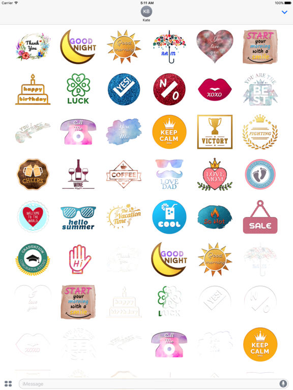 Engraving - Animated Chat Badge Stickers screenshot 6