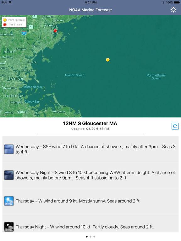 NOAA 5-day Marine Forecast screenshot 10