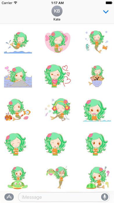 Pretty Mermaid Animated Sticker screenshot 1