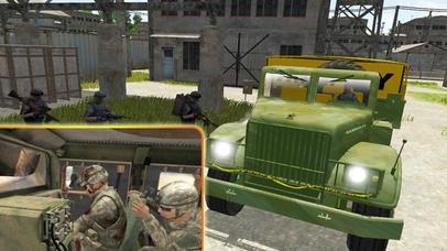 4x4 Military Jeep Driving Simulator in War Land screenshot 1