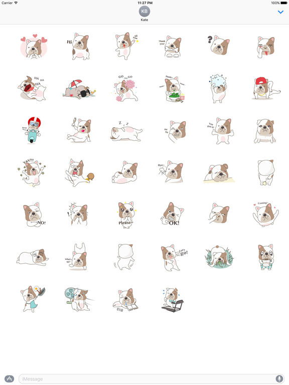 Funny English Bulldog Sticker Pack screenshot 4