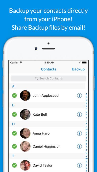 backup iphone contacts backup contacts fast on the app 10215