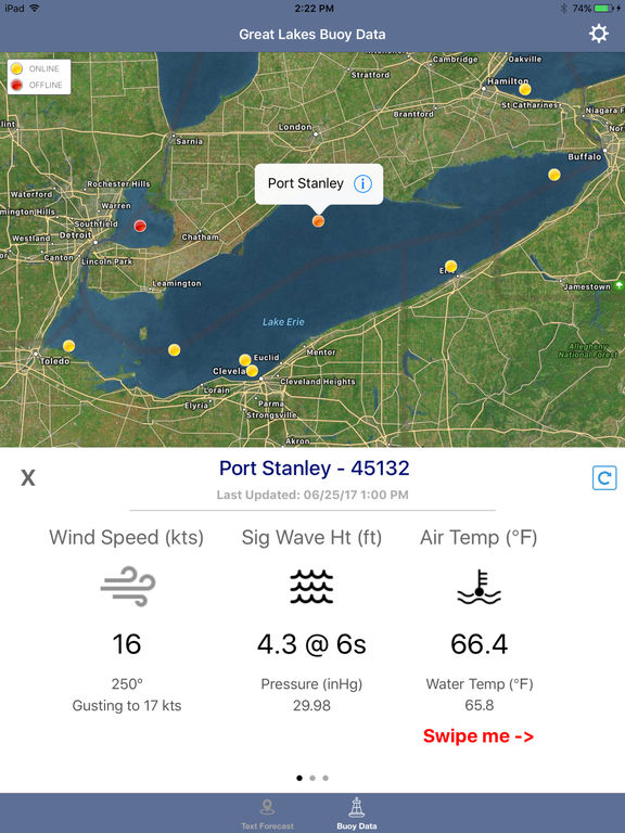 Lake Erie Boating Weather screenshot 5