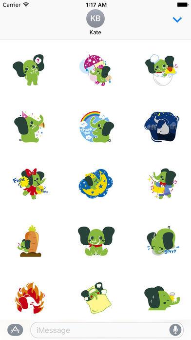 Colorful Elephant Sticker screenshot 2