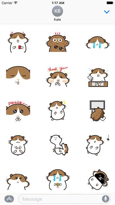 Cute Hamster - Hamsmoji Sticker screenshot 2