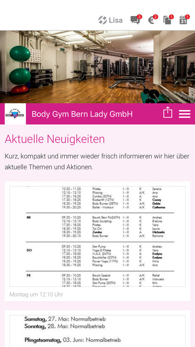 Body Gym Bern Lady screenshot 1