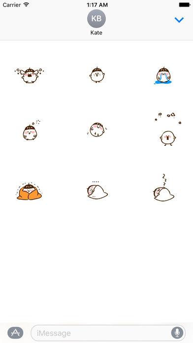 Animated Cute Acorn Stickers screenshot 2