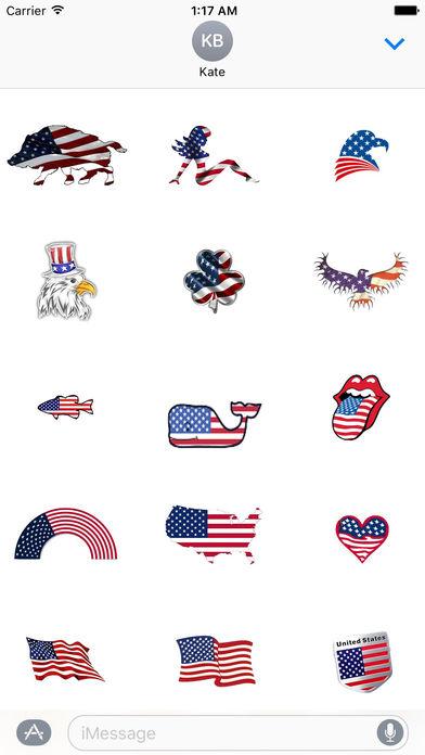 Happy Flag Day 2017 Sticker screenshot 2