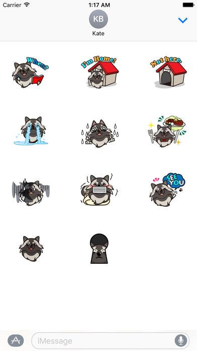 Keeshond Dog - Kees Emoji Stickers screenshot 3