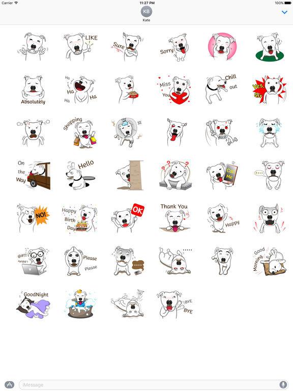 Pit Bull Dog Emoji Stickers screenshot 4
