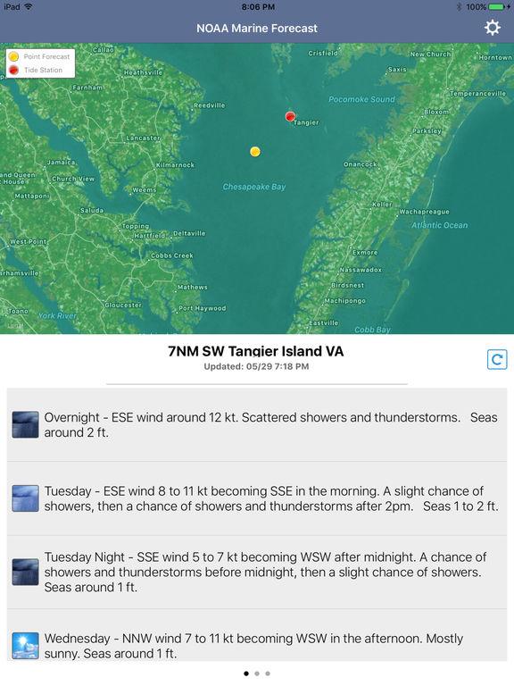 NOAA 5-day Marine Forecast screenshot 8