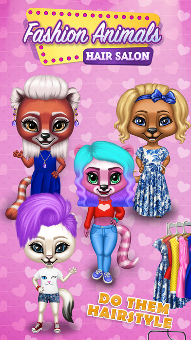 Fashion Animals - Hair Salon, Makeup & Dress Up screenshot 1