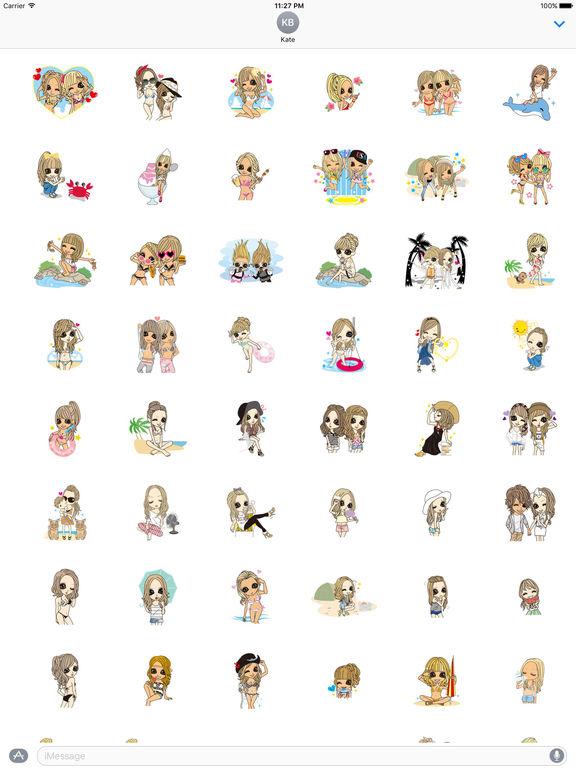 Beautiful Girls in Summer Sticker screenshot 6
