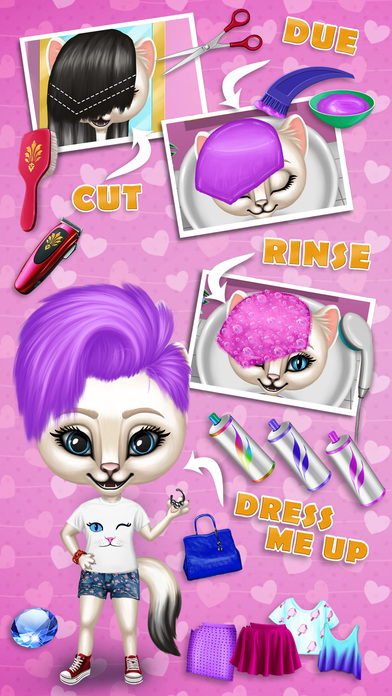 Fashion Animals - Hair Salon, Makeup & Dress Up screenshot 4