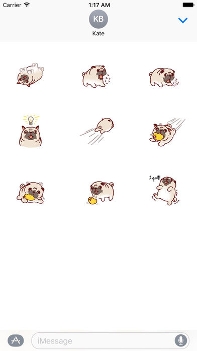 Pugmoji - Cute Pug Dog Sticker screenshot 3
