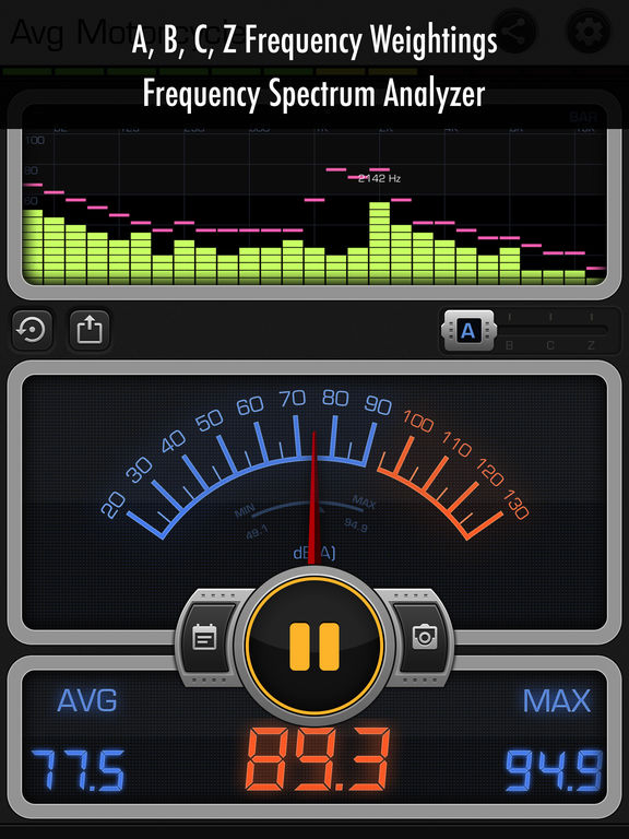 Decibel X PRO: dBA Noise Meter screenshot 7