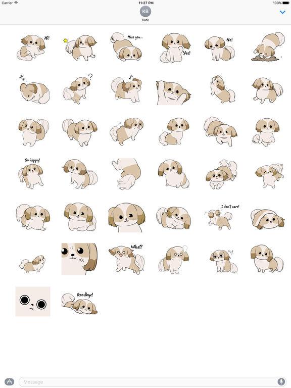 Shih Tzu Dog - Shihmoji Emoji Sticker screenshot 4