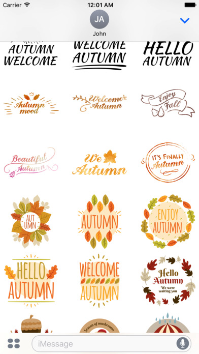 Autumn Greetings - Say it With Beautiful Stickers screenshot 5