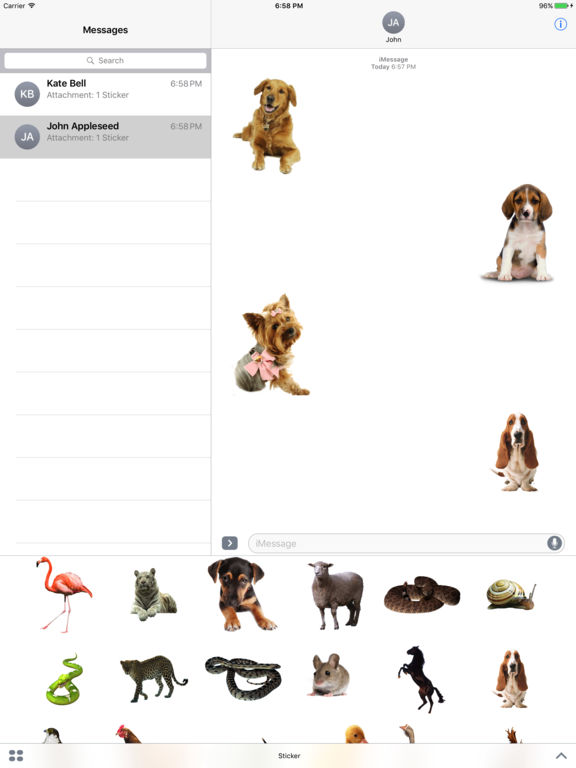 Animals Stickers+ screenshot 3