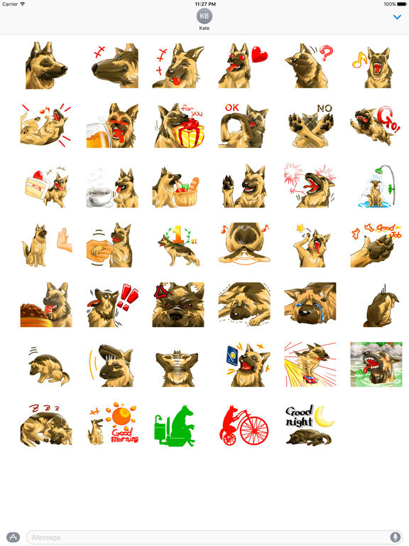 Blondi The Smart German Shepherd Dog Sticker screenshot 4