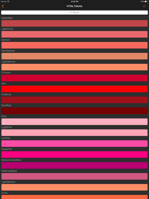 HTML Color codes. WEB Palette screenshot 7