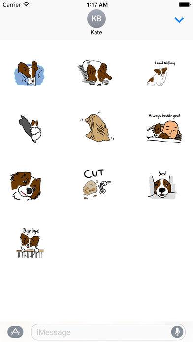 Papillon Dog Emoji Sticker screenshot 3