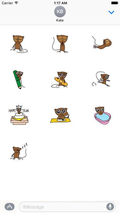 Cute and Shy Tarsier Sticker screenshot 3