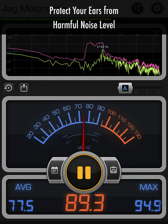 Decibel X PRO: dBA Noise Meter screenshot 9