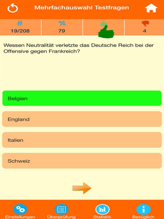 Der Erste Weltkrieg Quiz screenshot 8