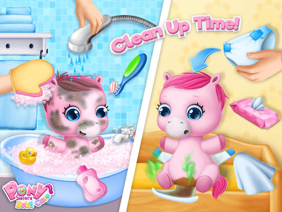 Pony Sisters Baby Horse Care - No Ads screenshot 8