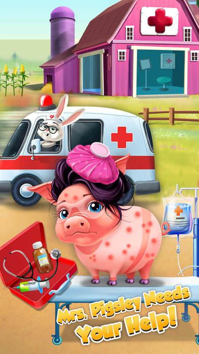 Farm Animals Hospital Doctor 3 - No Ads screenshot 3