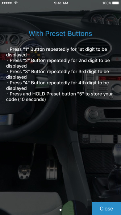 Radio Code for Ford M screenshot 4