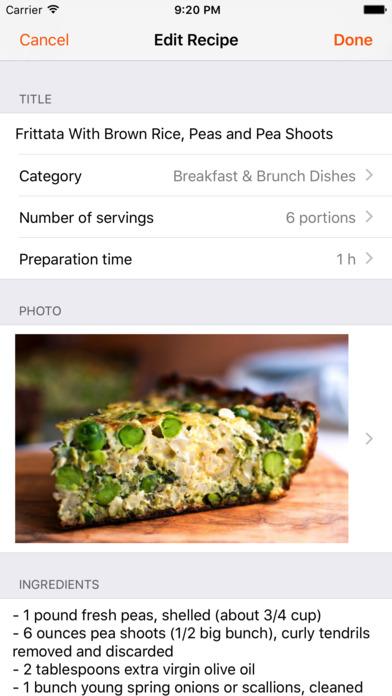 Cookbook - Recipes manager screenshot 3