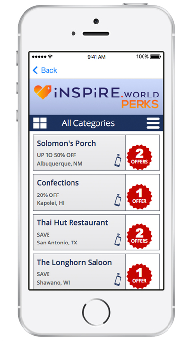 itunes app for iphone inspire world perks on the app 2075