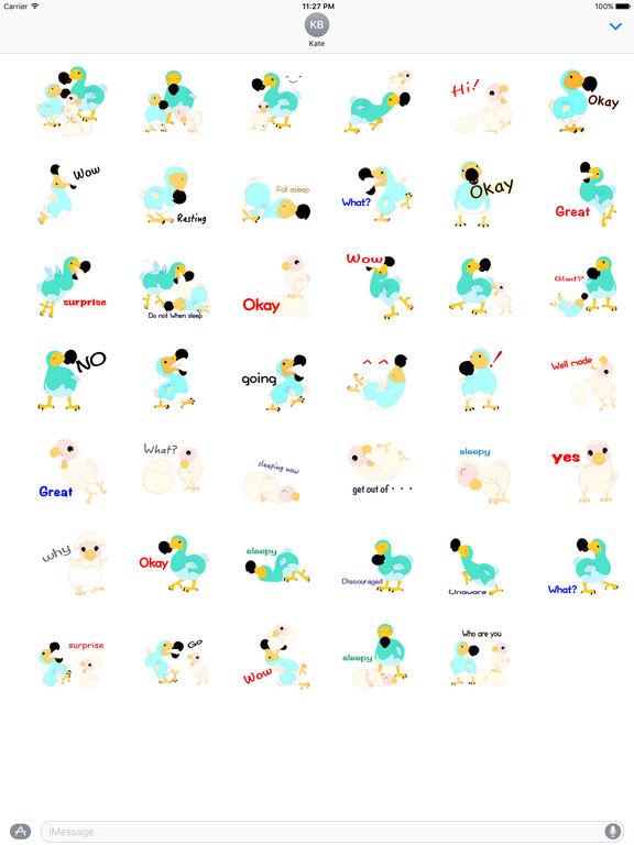 Cute Dodo Bird Sticker screenshot 4