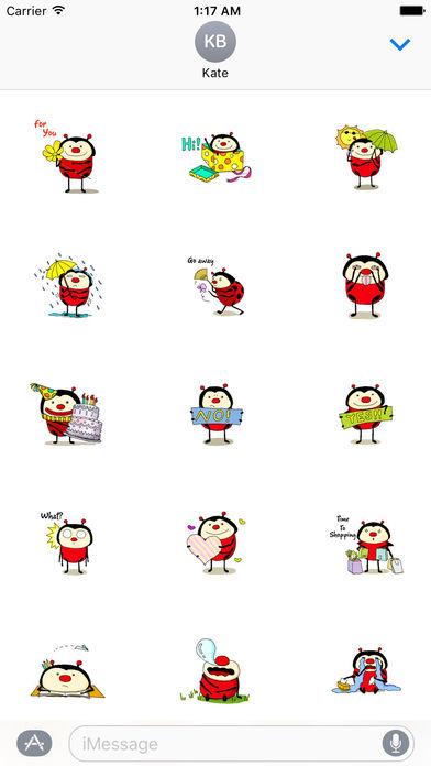 Funny Ladybug Sticker screenshot 1